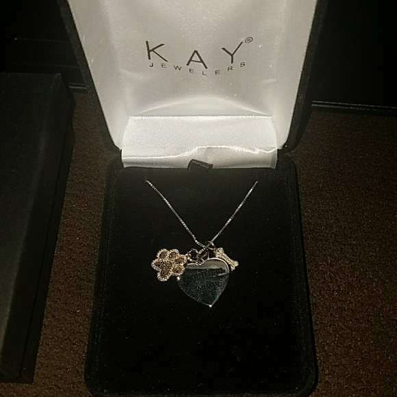 0f2f2cbf9 Kay Jewelers Jewelry | Proud Dog Mom Black Diamond Necklace Sterling ...